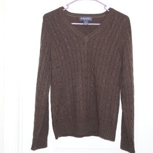 Brooks Brothers Italian Cashmere Brown Sweater M